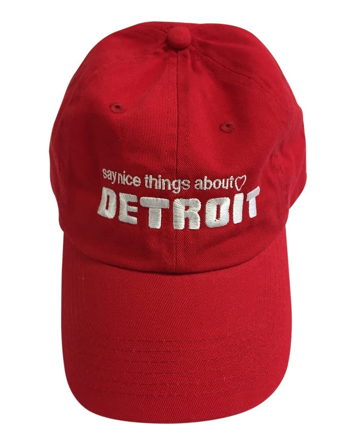 Say Nice Things About Detroit Dad Cap - Red