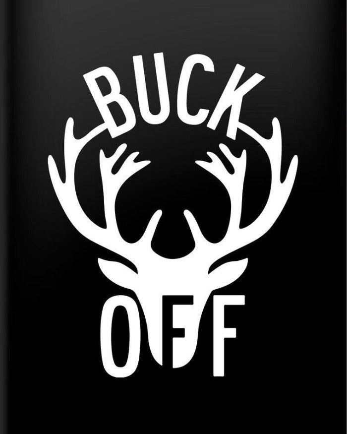 The Great Lakes State Buck Off Vinyl Decal Sticker