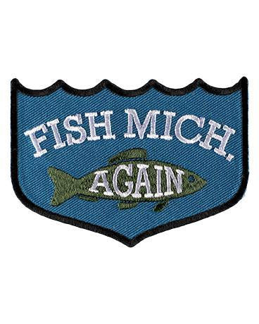 The Great Lakes State Fish Michigan iron on patch