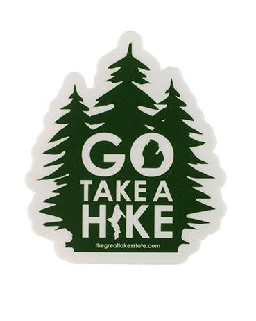 The Great Lakes State Go Take A Hike Die Cut Vinyl Sticker