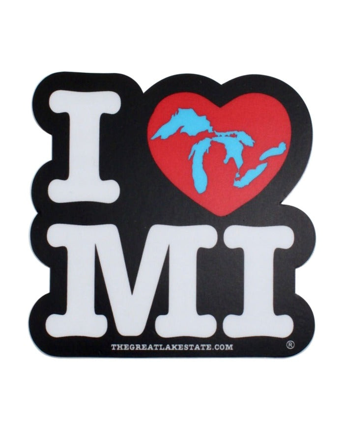 The Great Lakes State - I Love MIchigan Die Cut Vinyl Sticker