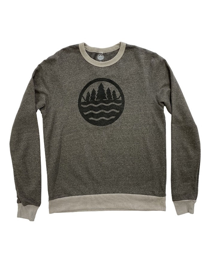 The Great Lakes State Logo Eco Mock Twist Ringer Sweatshirt