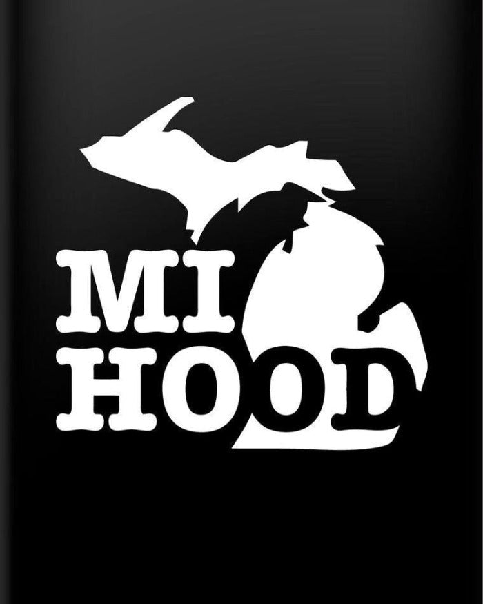 The Great Lakes State MI Hood Vinyl Decal Sticker