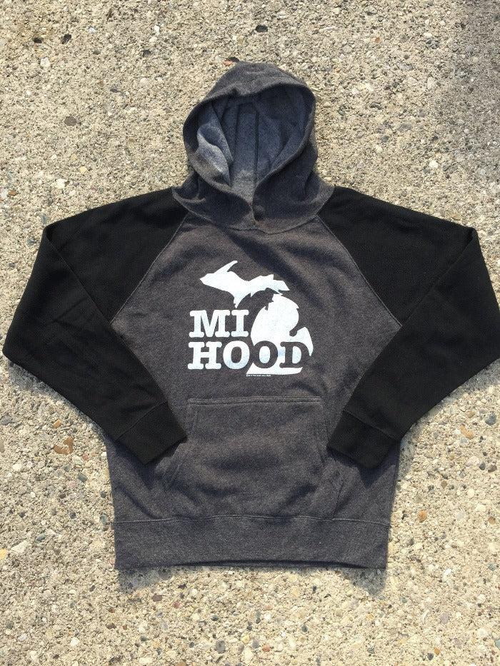The Great Lakes State MI Hood Youth Pullover Hooded Sweatshirt