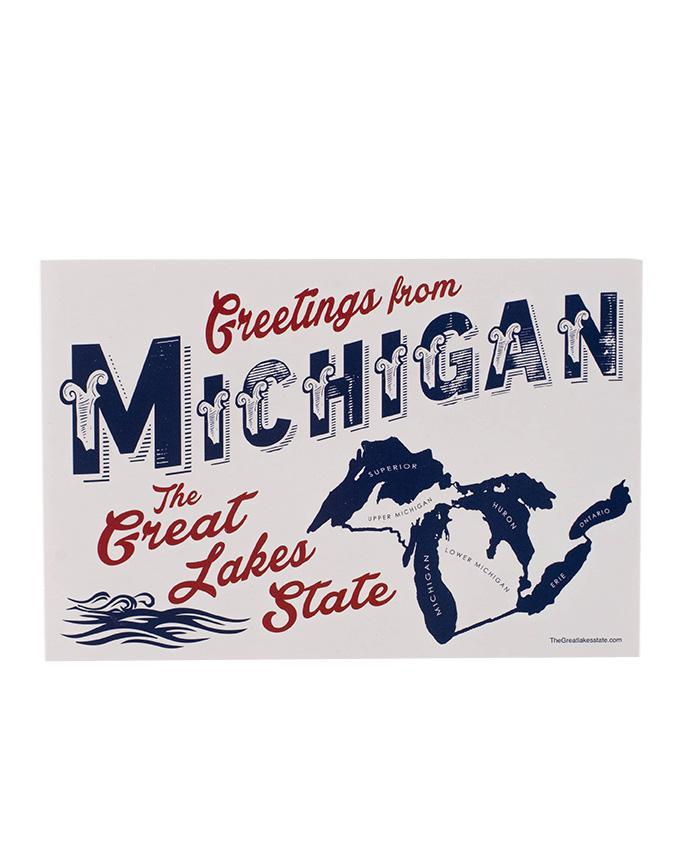 The Great Lakes State Michigan Post Card