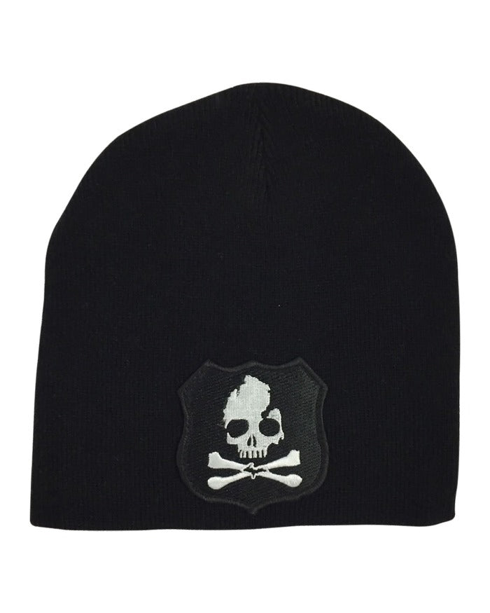 The Great Lakes State Michigan Skull & Bones Knit Beanie - Black