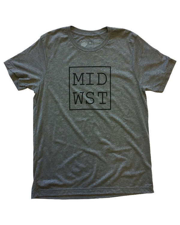 The Great Lakes State Midwest T-Shirt - Heather Grey