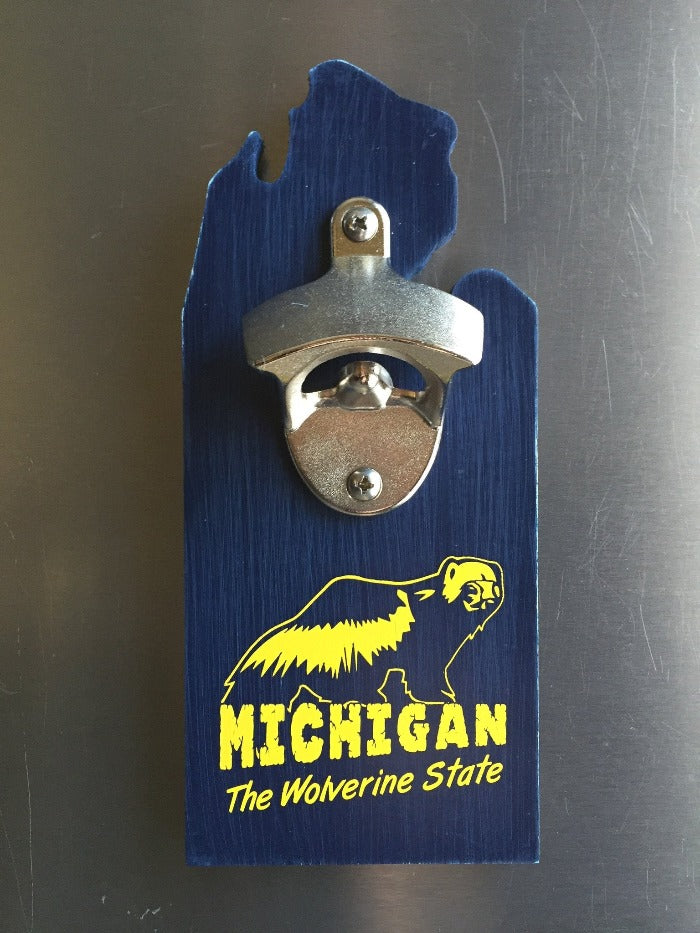 The Great Lakes State Wolverine State Bottle Opener