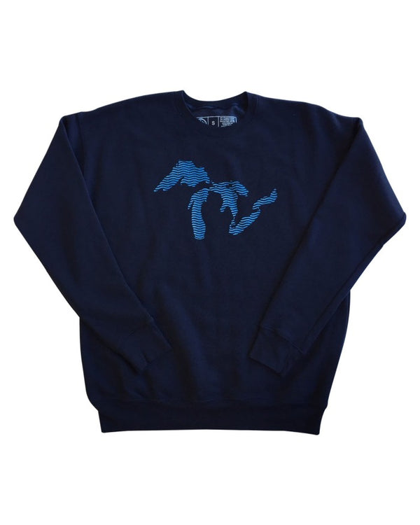 Great Lakes Waves - Unisex Fleece Sweatshirt