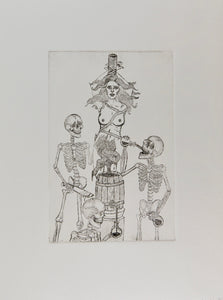 """Remedy for the Damned"" Original Etching"
