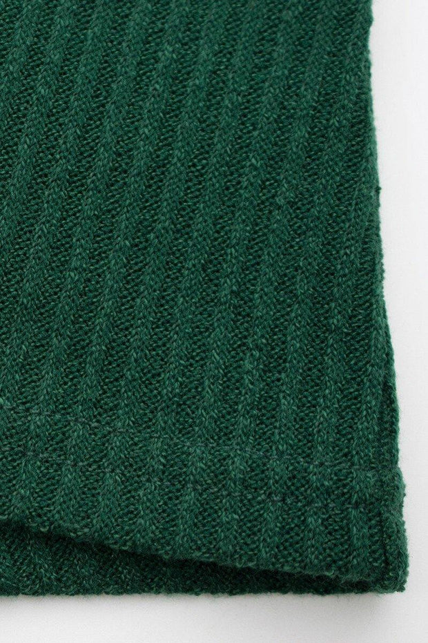 Adele green plus size knitted wrap dress - Le Royale Collection. Inc Boutique