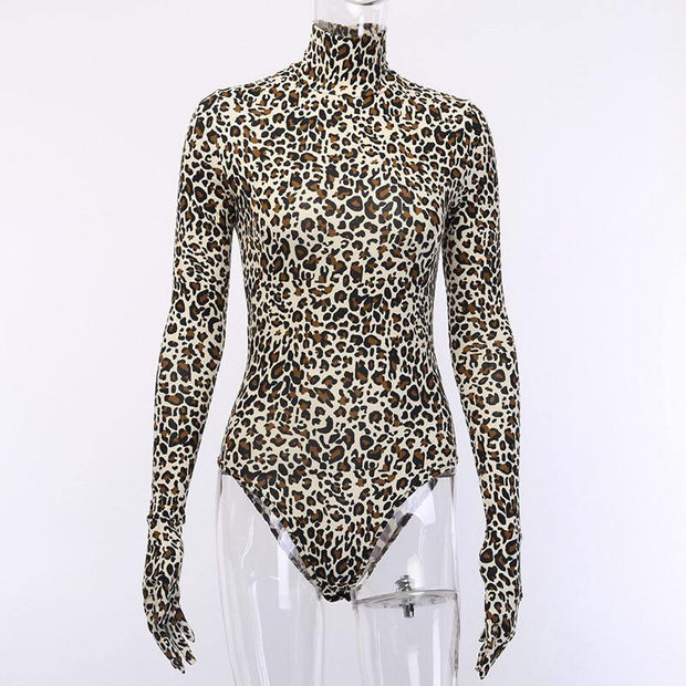 Gloves of War,Cheetah bodysuit - Le Royale Collection. Inc Boutique