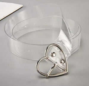 Transparently Fab Clear Belt
