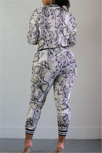 For the sake of Naomi Snake print  two piece suit