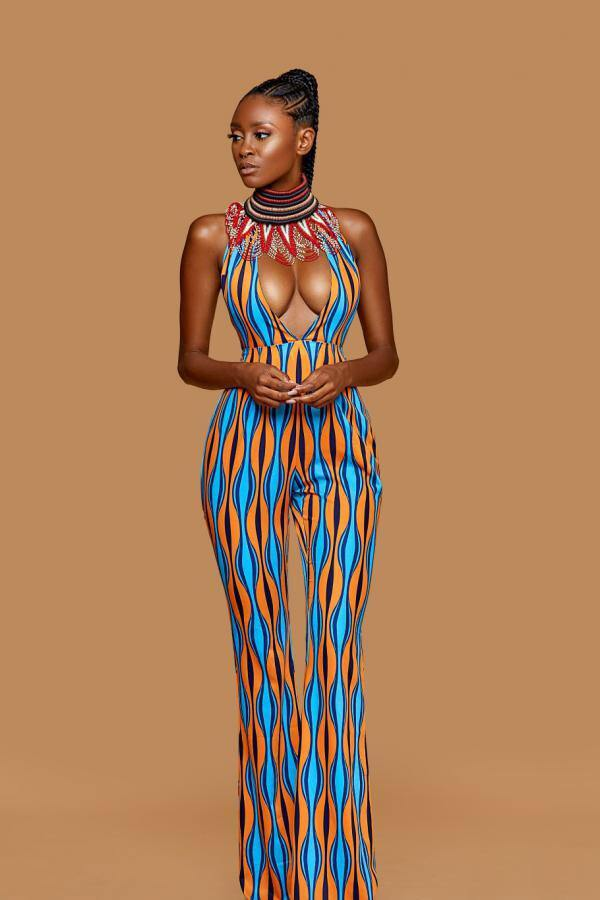 Malianne Princess  Multi-Color Open Back Jumpsuit - Le Royale Collection. Inc Boutique