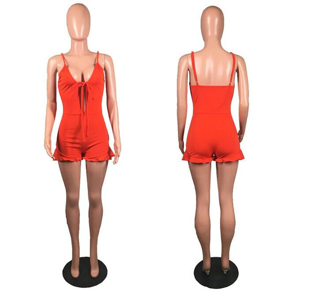 Melrose Slim Fit Romper - Le Royale Collection. Inc Boutique