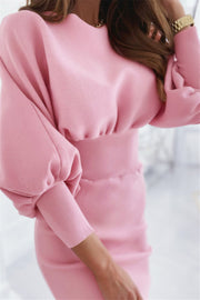 Ms. King Soft Pink Midi Dress