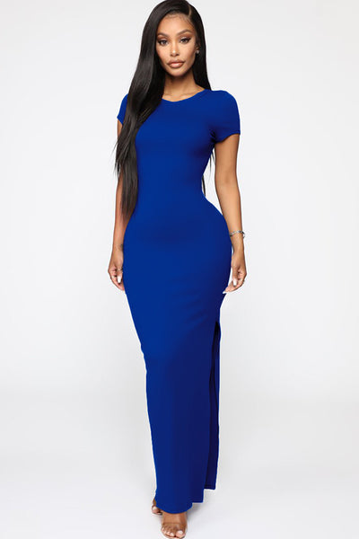 Devious Slit Ankle Midi Dress