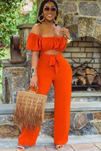 Load image into Gallery viewer, Queening  Off shoulder Jumpsuit