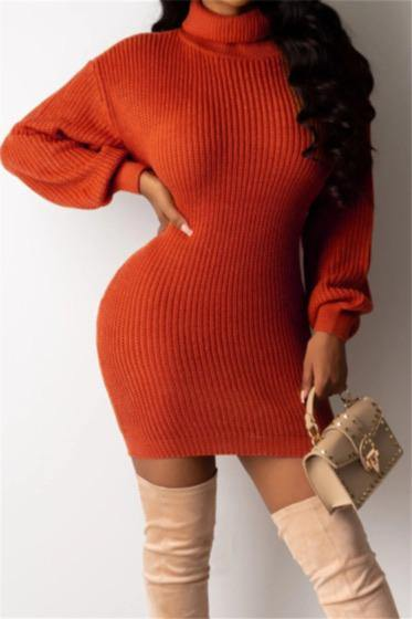 Cozy Babe Turtleneck Sweater Dress - Le Royale Collection. Inc Boutique
