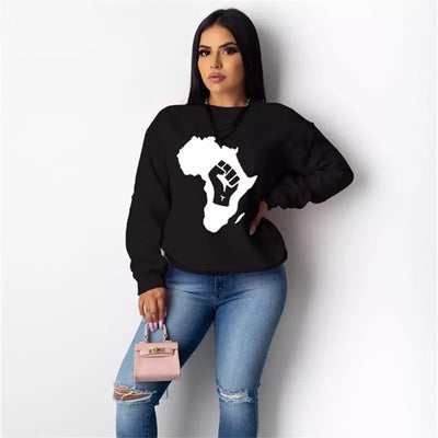 The Mother Land Crew Neck Long Sleeve Shirt