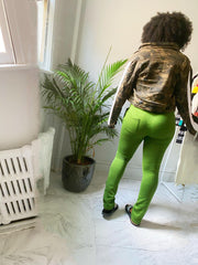 She Cool , Casual Women Green Sweatpants - Le Royale Collection. Inc Boutique