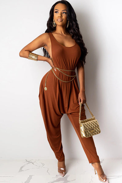 Brown overall Jumpsuit