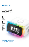 Momax Q. Clock 2 Digital Clock with Wireless Charger
