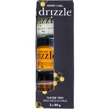 DRIZZLE TASTER TRIO RAW HONEY 3 X 80G