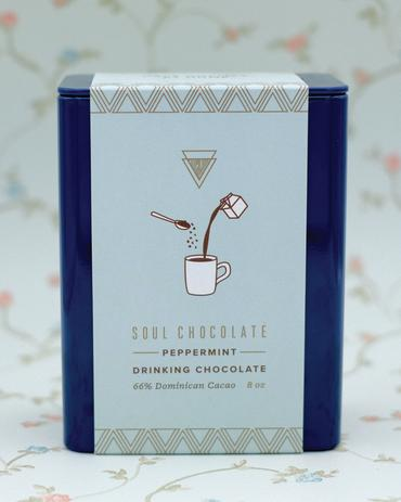SOUL CHOCOLATE PEPPERMINT HOT CHOCOLATE TIN