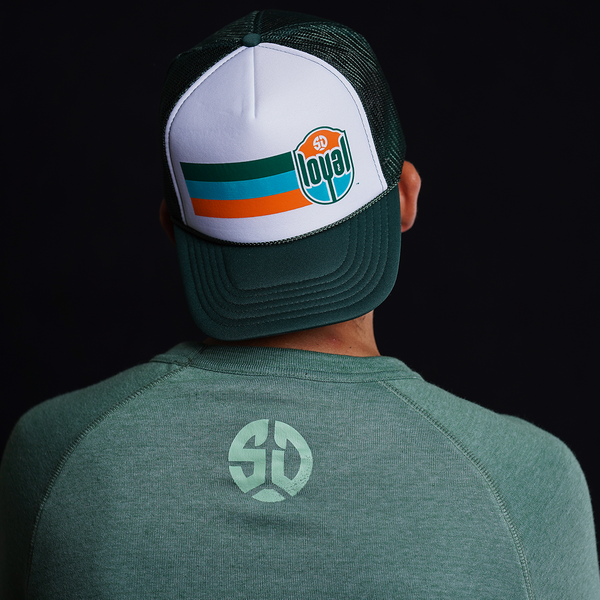 Crest with Stripes Foam Trucker Hat