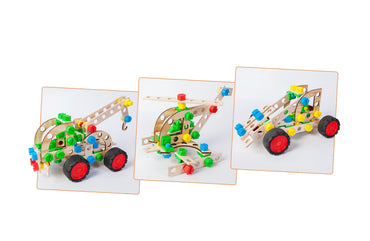 WOODEN 3-IN-1 PULL TRUCK (102 Pieces)