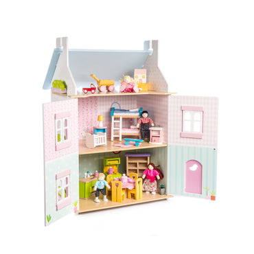 Le Toy Van  -  Blue Bird Doll's House with Furniture