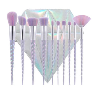 Unicorn Diamond brush set - Exquisite Cosmeticz