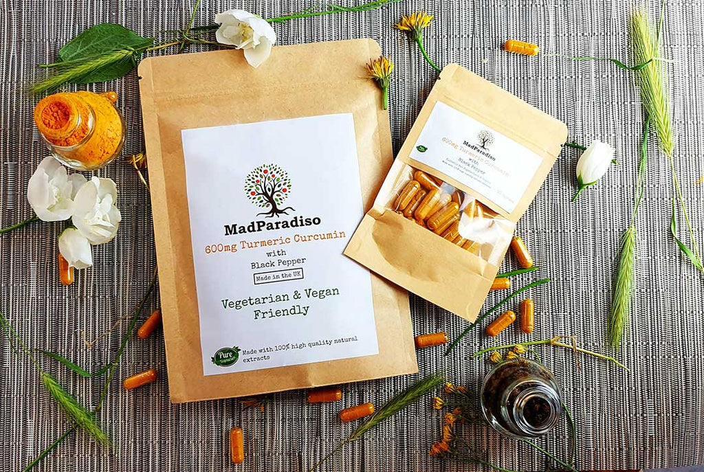 Madparadiso Turmeric and Black Pepper Vegan Capsules
