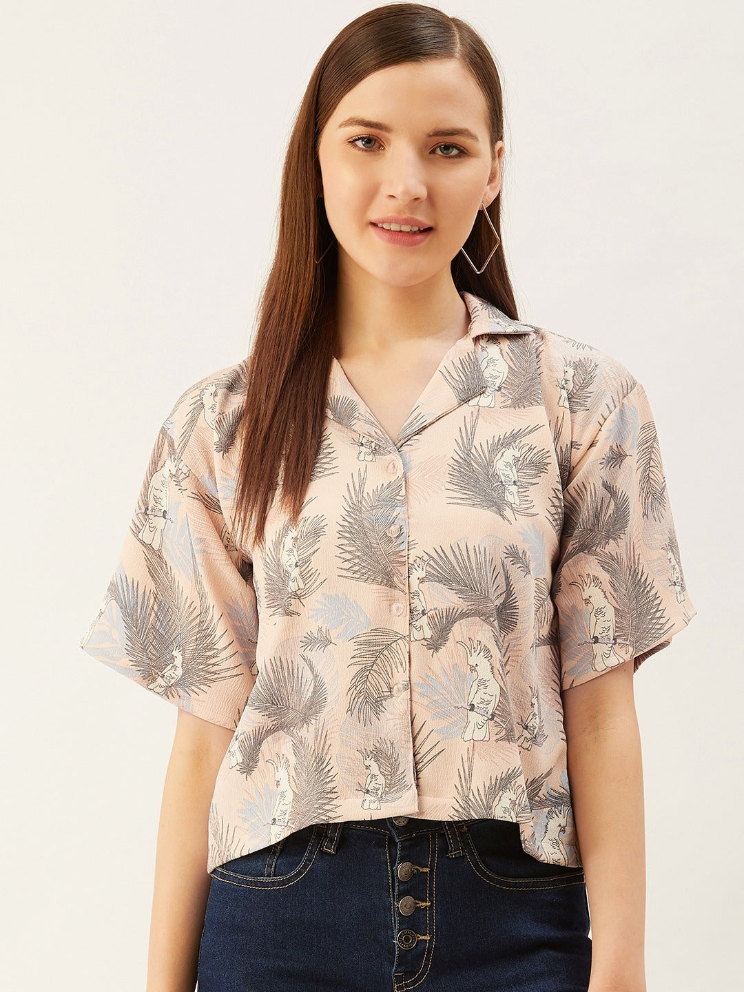 Beige Tropical Shirt