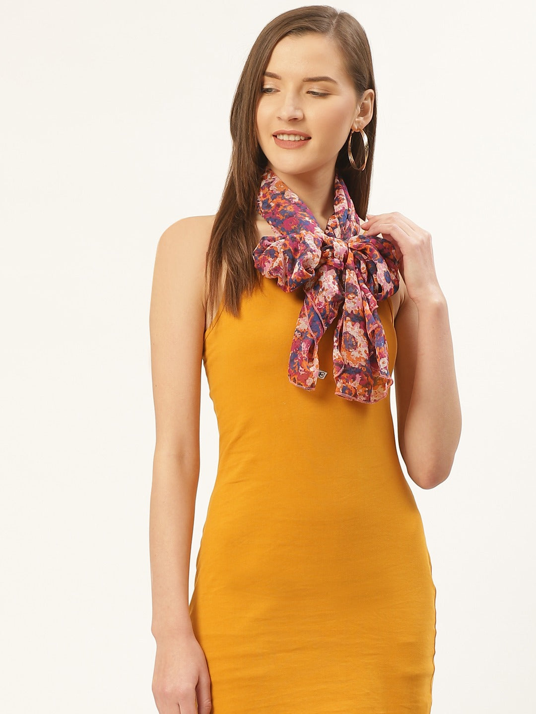 Abstract Multicolored Scarf