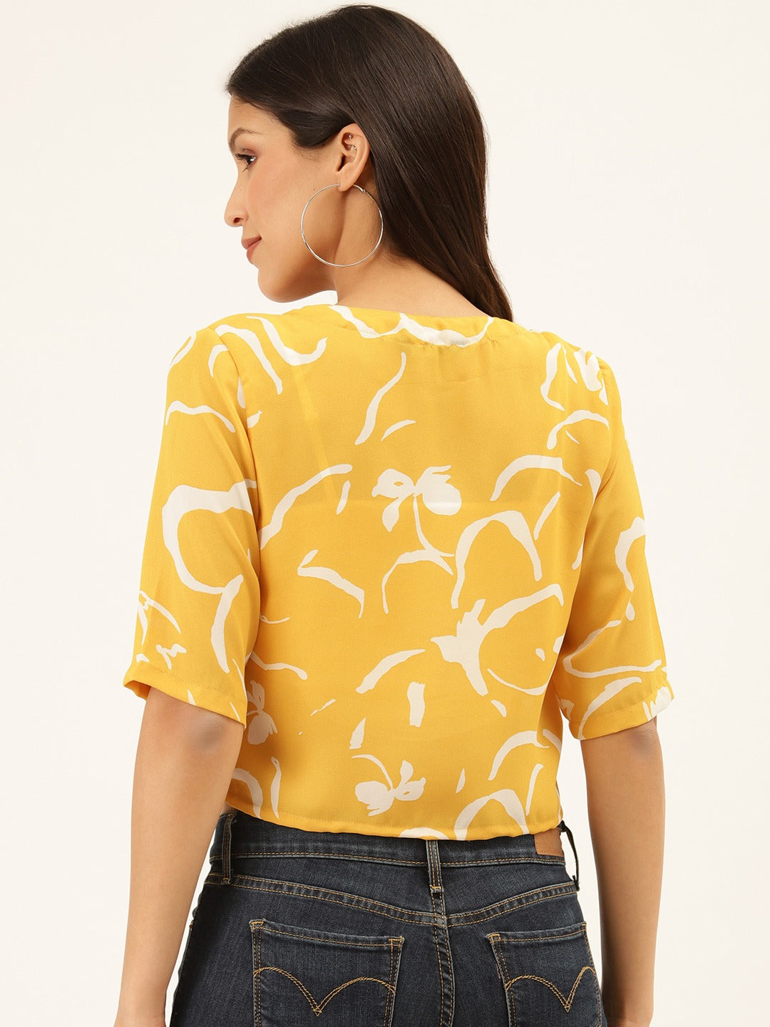 Front Knot Yellow Top