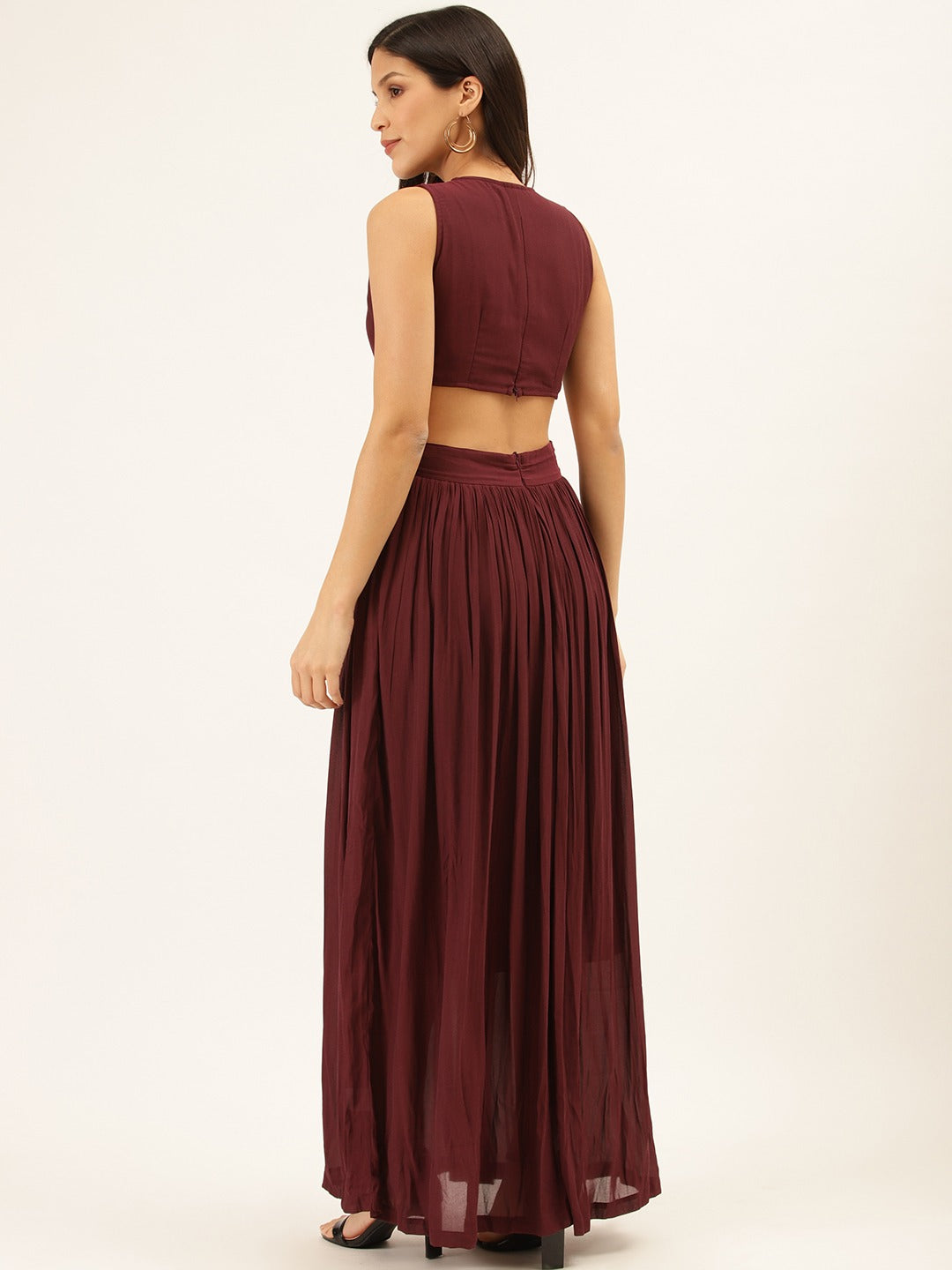 Solid Evening Maxi Dress