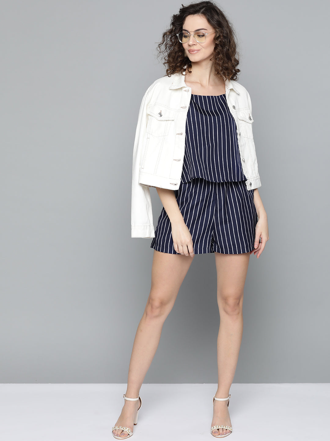 Striped Blue Playsuit