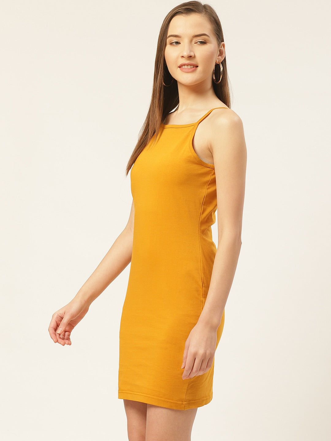 Solid Mustard Dress