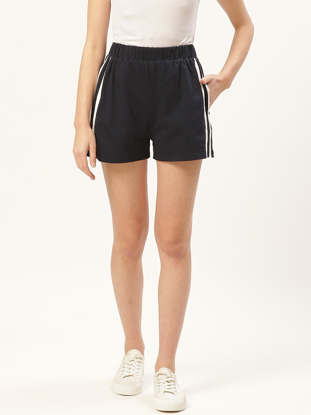 High Waist Navy Shorts