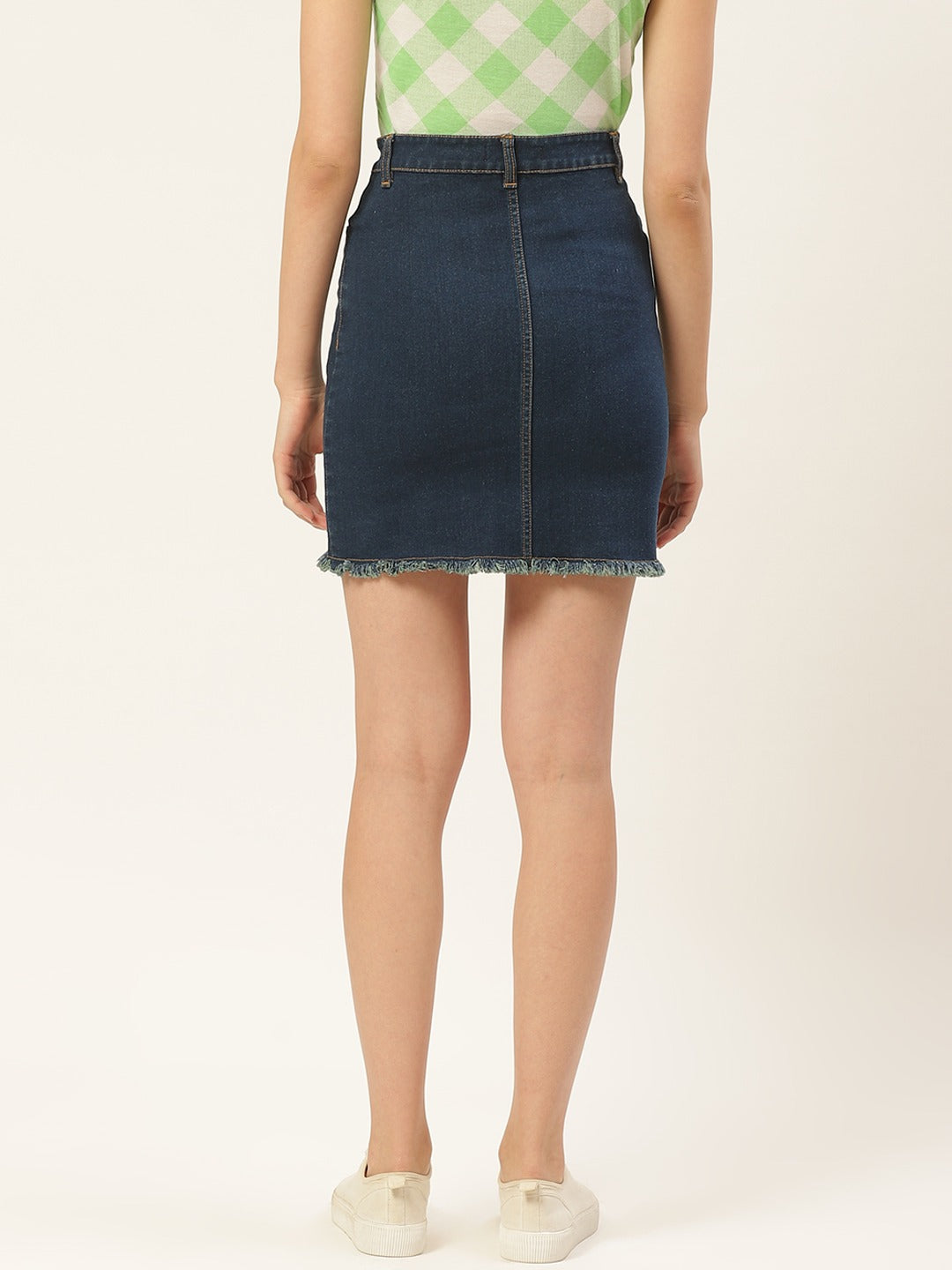 Raw Hem Denim Skirt