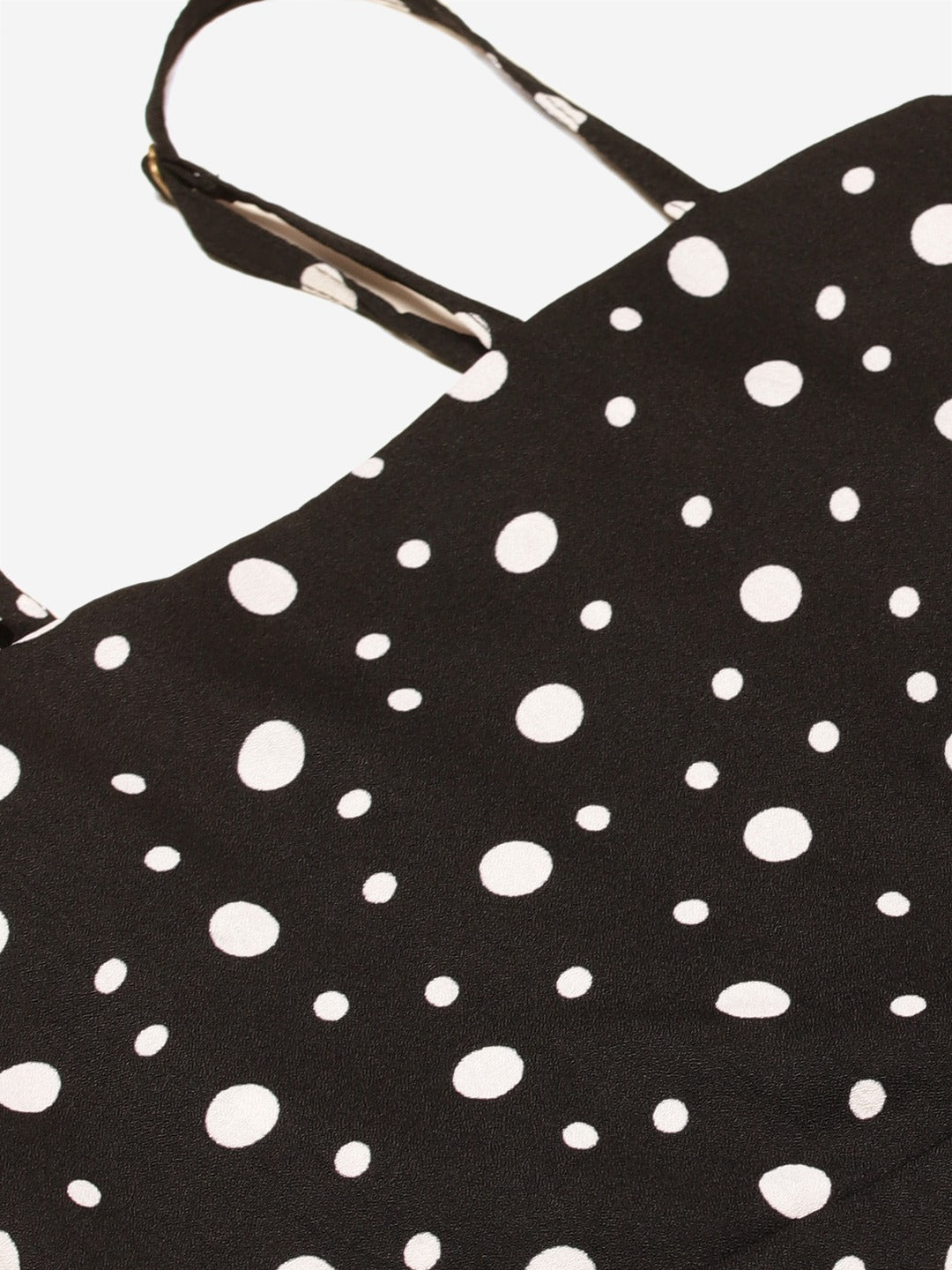 Black Polka Skater Dress