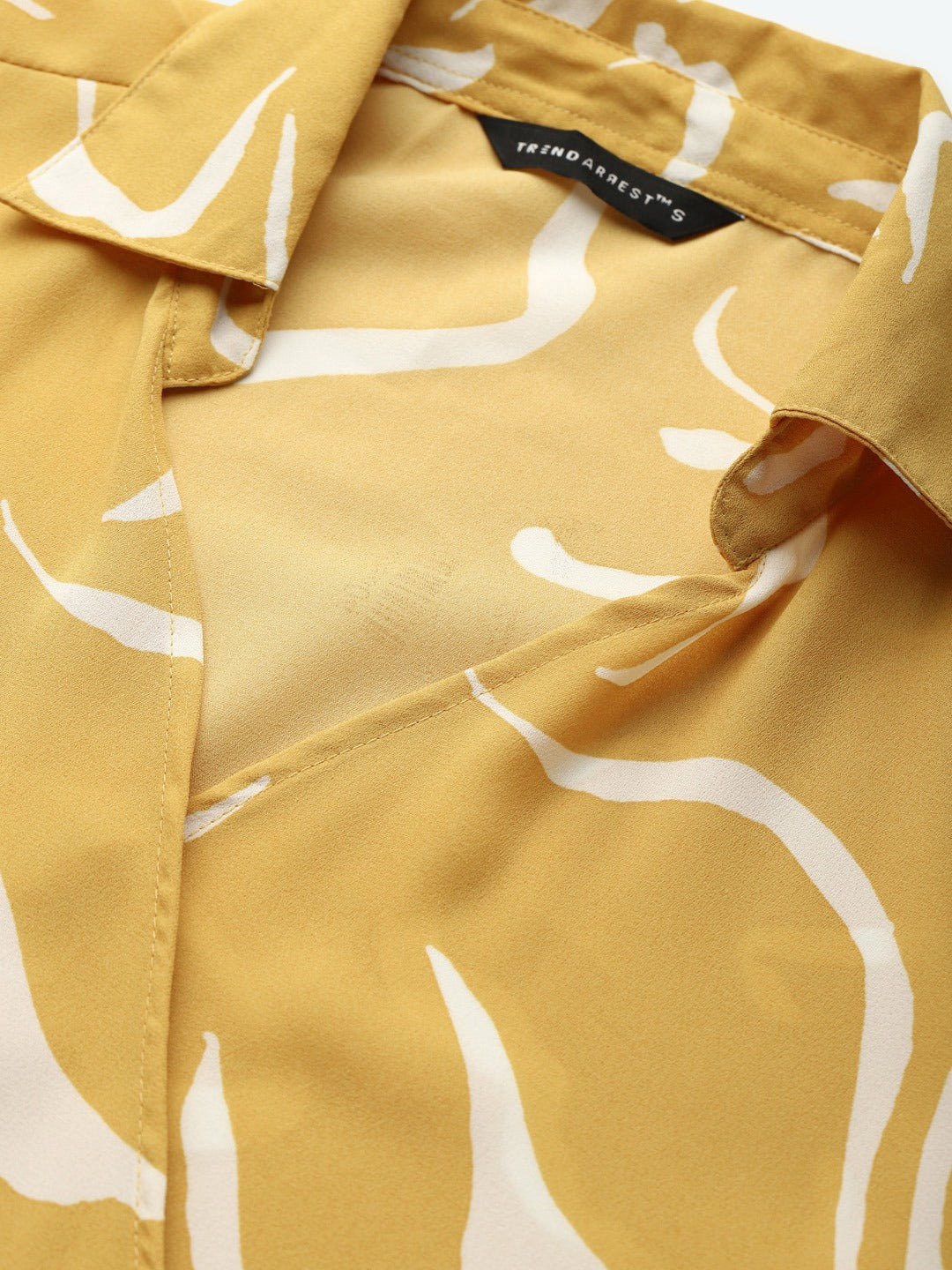 Abstract Yellow Knot Top