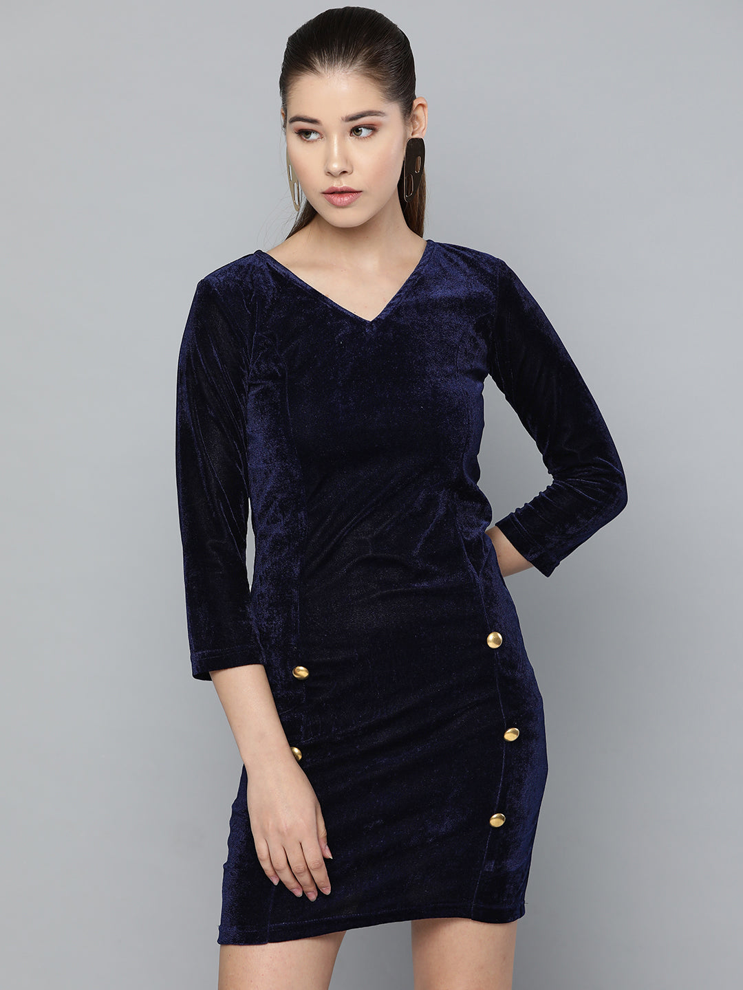 Velvet Royal Blue Dress