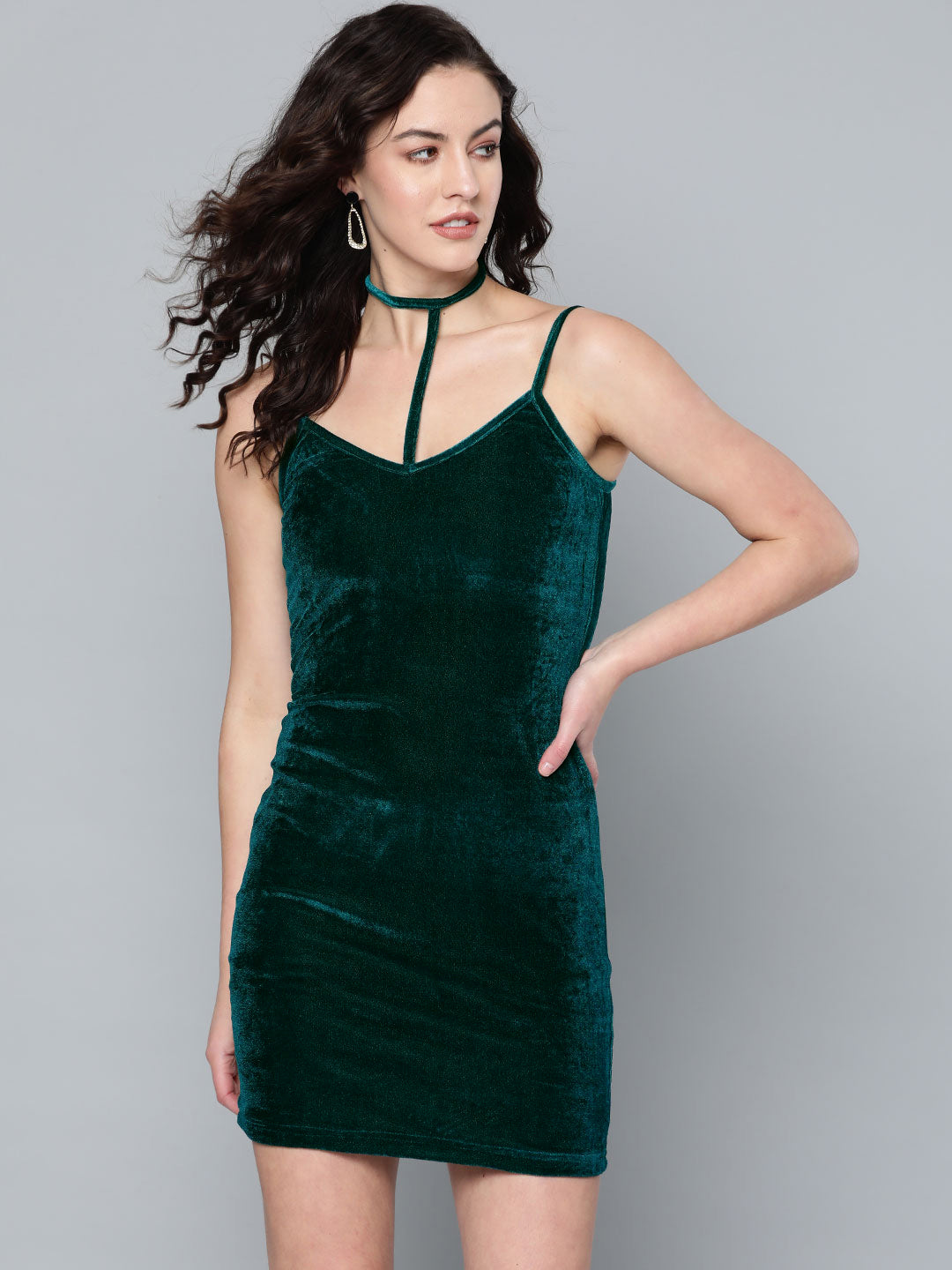Velvet Turquoise Dress
