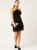 Halter Neck lace Detail Dress