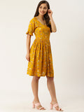 Yellow Rayon Dress