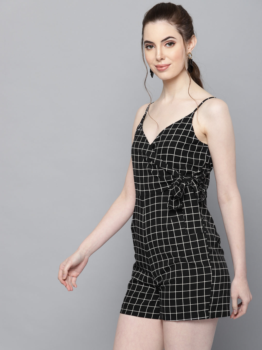 Lush Check print Playsuit
